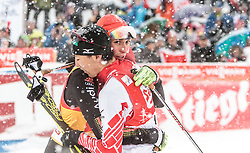 31.01.2016, Casino Arena, Seefeld, AUT, FIS Weltcup Nordische Kombination, Seefeld Triple, Langlauf, im Bild v.l.: Akito Watabe (JPN), Eric Frenzel (GER) // f.l.: Akito Watabe of Japan Eric Frenzel of Germany react after 15km Cross Country Gundersen Race of the FIS Nordic Combined World Cup Seefeld Triple at the Casino Arena in Seefeld, Austria on 2016/01/31. EXPA Pictures © 2016, PhotoCredit: EXPA/ JFK