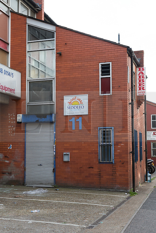© Licensed to London News Pictures. 04/10/2014. London, UK. General view of the exterior of the Siddeeq Academy, an Islamic Education and Tuition Centre in Hessel Street, Tower Hamlets in East London, E1. The Siddeeq Academy was raided by counter-terrorism officers last week and police arrested Academy manager, Mizanur Rahman in connection with concerns about the possibility that the Siddeeq Academy may be being run as an unregulated school, offering subjects including Arabic and Islamic studies. Photo credit : Vickie Flores/LNP