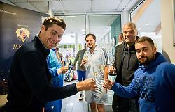 Gregor Grusic, Matej Pavlic, BTC – Medot rekreativni teniški turnir dvojic, on January 13, 2018 in BTC Millenium centre, Ljubljana, Slovenia. Photo by Vid Ponikvar / Sportida
