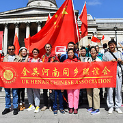 Pro-China and Pro-HK united to supports HK police, London, UK