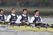 Putney, GREAT BRITAIN,    left,  Aaron MARCOVY, 6. Ben HARRISON, 7. Sjoerd HAMBURGER, Stroke Colin SMITH, during the 2008 Varsity/Oxford University [OUBC] Trial Eights, raced over the championship course. Putney to Mortlake, on the River Thames. Thurs. 11.08.2008 [Mandatory Credit, Peter Spurrier/Intersport-images]. Varsity Boat Race, Rowing Course: River Thames, Championship course, Putney to Mortlake 4.25 Miles,