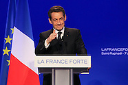 French President Nicolas Sarkozy In Saint Raphael for Presidential UMP Meeting - April 7th, 2012
