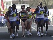 London Marathon, London, GREAT BRITAIN, location, Isle of Dogs. © Peter Spurrier/Intersport Image/+447973819551