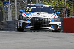 June 23, 2018 - Vila Real, Vila Real, Portugal - Nathanael Berthon from France in Audi RS 3 LMS of Comtoyou Racing during the Race 1 of FIA WTCR 2018 World Touring Car Cup Race of Portugal, Vila Real, June 23, 2018. (Credit Image: © Dpi/NurPhoto via ZUMA Press)