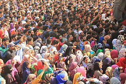 October 14, 2017 - Shopian, Jammu and Kashmir, India - Funeral procession of LeT Commander Waseem Shah at his ancestral village Heff Shirmal of District Shopian who got killed in an encounter with government security forces at Litter Pulwama of South Kashmir some 47 kilometers Appx. from Srinagar (Credit Image: © Ubaidullawani/Pacific Press via ZUMA Wire)