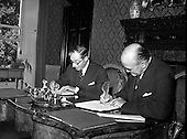 1959 - Ratification of Irish-Belgian Air Agreement at Iveagh House