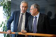 Roma sep 24th 2015, debate on justice and business. In the picture Giovanni Legnini, Giuseppe Pignatone