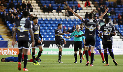 Eoghan O'Connell of Bury pleads his innocence to the match referee before being sent off - Mandatory by-line: Joe Dent/JMP - 23/12/2017 - FOOTBALL - ABAX Stadium - Peterborough, England - Peterborough United v Bury - Sky Bet League One