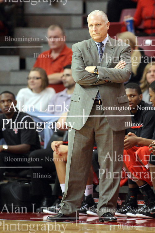 29 November 2014:  Jerry Slocum during an NCAA men's basketball game between the Youngstown State Penguins and the Illinois State Redbirds  in Redbird Arena, Normal IL.
