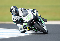 October 21, 2017 - Melbourne, Victoria, Australia - Australian rider Tom Toparis (#70) of Cube Racing in action during the third free practice session at the 2017 Australian MotoGP at Phillip Island, Australia. (Credit Image: © Theo Karanikos via ZUMA Wire)