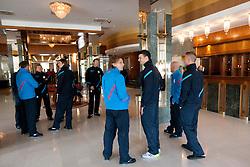 Players during presentation of new Nike jerseys of Slovenian Nathional Football Team, on February 28, 2012 in Grand Hotel Metropol, Portoroz, Slovenia.  (Photo By Vid Ponikvar / Sportida.com)