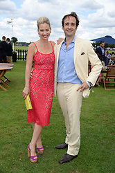 MATT & MARISSA HERMER at the Boujis hospitality at the Audi International Polo at Guards Polo Windsor Great Park, Egham, Surrey on 28th July 2013.