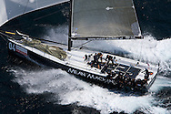 Mean Machine sailing downwind during race 1 of the AUDI Medcup in Marseille