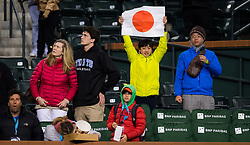 March 9, 2019 - Indian Wells, USA - Naomi Osaka Fans after their second-round match at the 2019 BNP Paribas Open WTA Premier Mandatory tennis tournament (Credit Image: © AFP7 via ZUMA Wire)