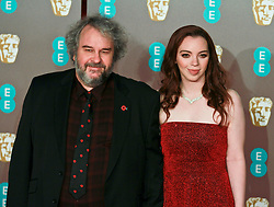 peter jackson poses on the red carpet ahead of the 2019 British Academy Film Awards at the Royal Albert Hall in London, England on 10th Feburary 2019. ©Ben Booth/Edinburgh Elite media