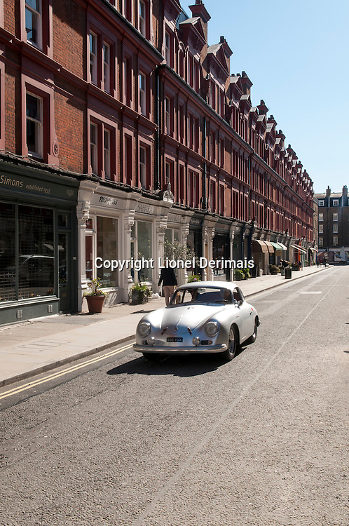 Old Porsche, Chiltern Street, Marylebone, Londres.