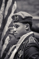 Sargeant of the Trojan Battalion, the Benjamin Banneker High School  JROTC in the Color Guard  at the City of Union City 2018 Mayor's State of the City Address, 3/20/18.