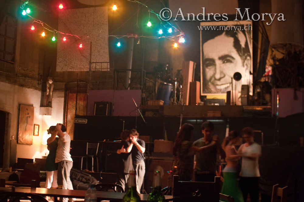 Tango Dancers in the Milonga La Catedral, Buenos Aires, Argentina Image by Andres Morya