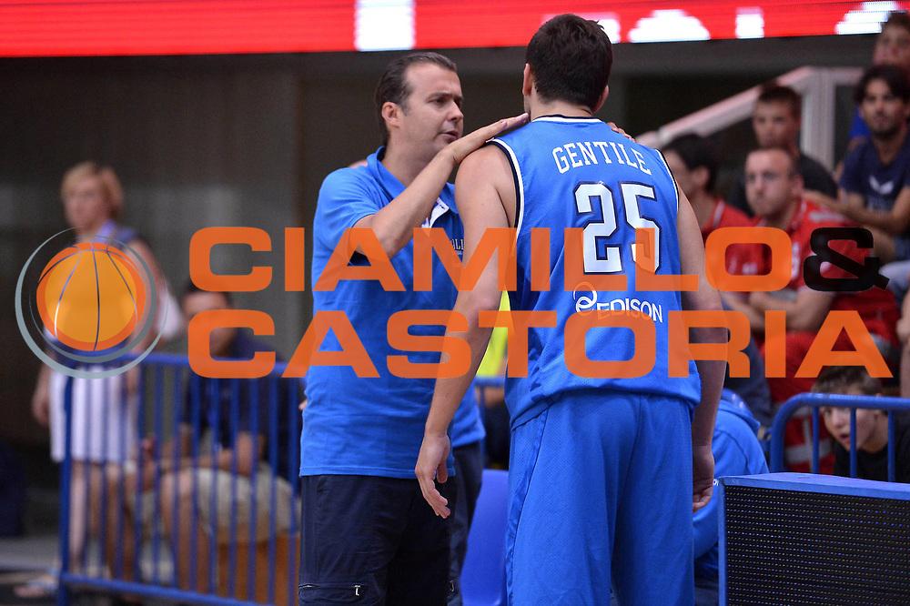 DESCRIZIONE : Trento Basket Cup 2013 Italia Polonia<br /> GIOCATORE : Gentile Pianigiani<br /> CATEGORIA : Fair Play<br /> SQUADRA : Nazionale Italia Uomini Maschile<br /> EVENTO : Trento Basket Cup 2013 Italia Polonia<br /> GARA : Italia Polonia<br /> DATA : 09/08/2013<br /> SPORT : Pallacanestro<br /> AUTORE : Agenzia Ciamillo-Castoria/GiulioCiamillo<br /> Galleria : FIP Nazionali 2013<br /> Fotonotizia : Trento Basket Cup 2013 Italia Polonia<br /> Predefinita :