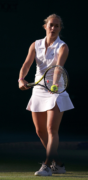 LONDON, ENGLAND - Tuesday, June 21, 2011: Klara Zakopalova (CZE) in action during day two of the Wimbledon Lawn Tennis Championships at the All England Lawn Tennis and Croquet Club. (Pic by David Rawcliffe/Propaganda)