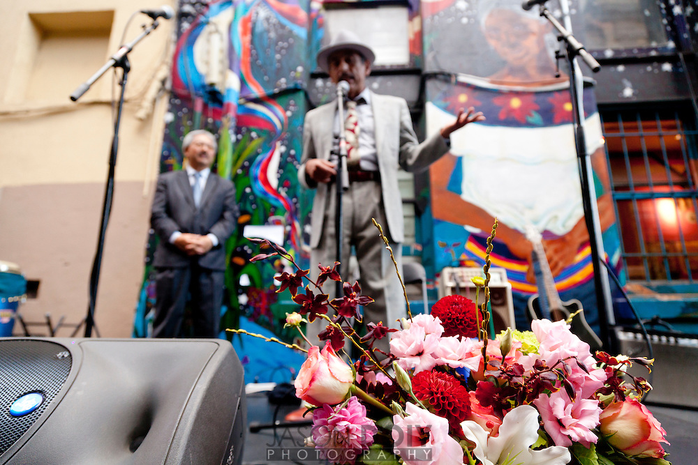 Alejandro Murguía SF's sixth poet laureate at the San Francisco International Poetry Festival...photo by Jason Doiy