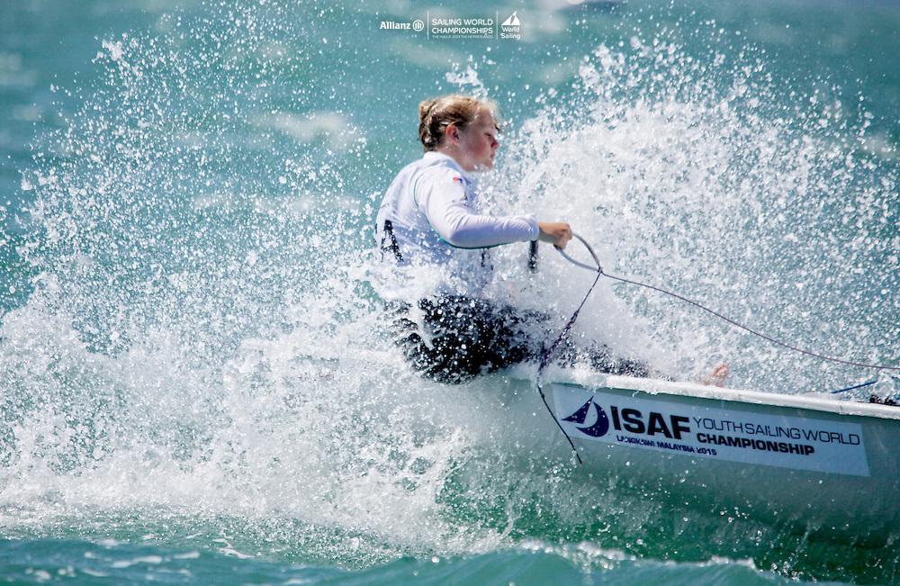 South AfricaLaser RadialWomenHelmRSAMV5MeganVan der Walt<br />Day1, 2015 Youth Sailing World Championships,<br />Langkawi, Malaysia