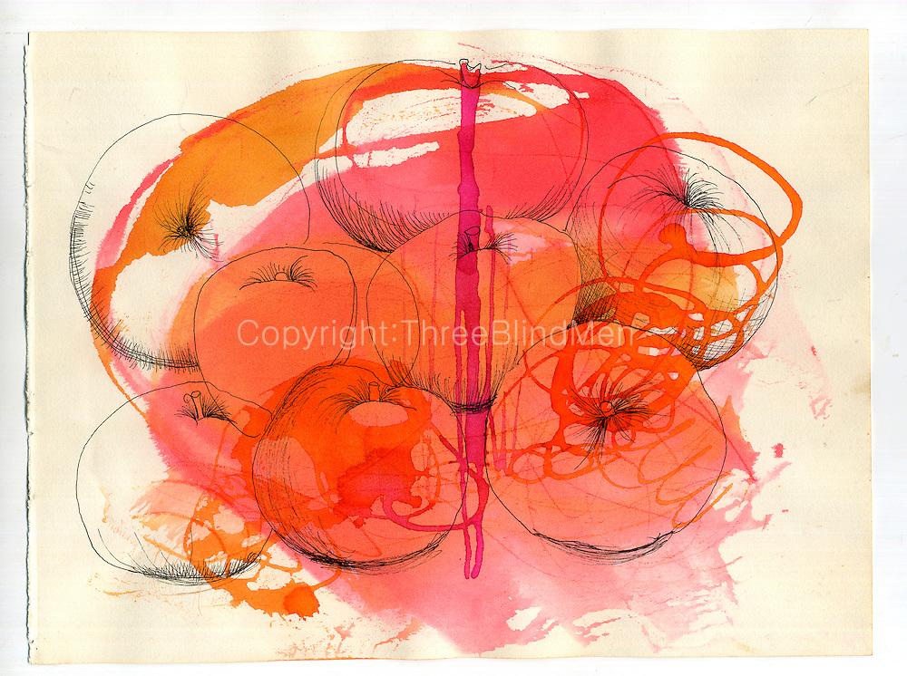 Barbara Sansoni.  Glass Rod Drawing, 1971