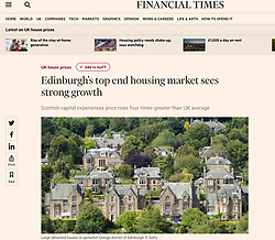 Financial Times; Edinburgh houses