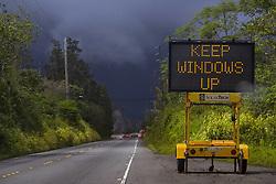 July 9, 2018 - Pahoa, Hawaii, U.S - Mauna Kea sunset and glow from the latest Kilauea eruption on the Big Island on Monday, June 12, 2018, in Hawaii.  Photo by LE Baskow/LeftEyeImages (Credit Image: © L.E. Baskow via ZUMA Wire)