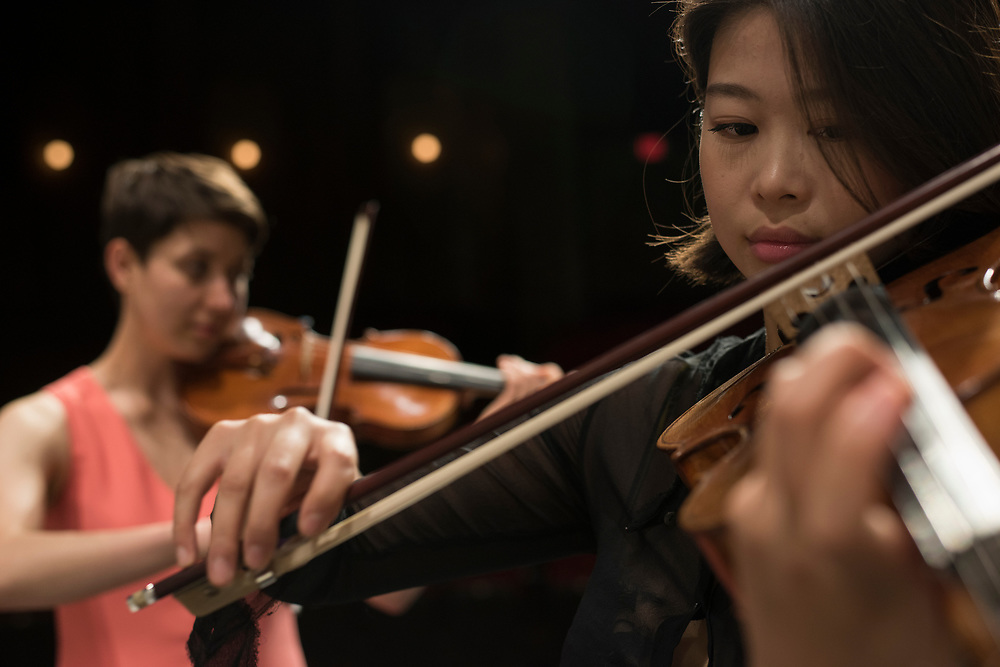 Chamber music rehearsal at Carnegie Mellon University's  School of Music