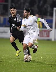 December 23, 2018 - France - Alejandro Pozuelo midfielder of Genk  and Yuta Toyokawa forward of Eupen (Credit Image: © Panoramic via ZUMA Press)