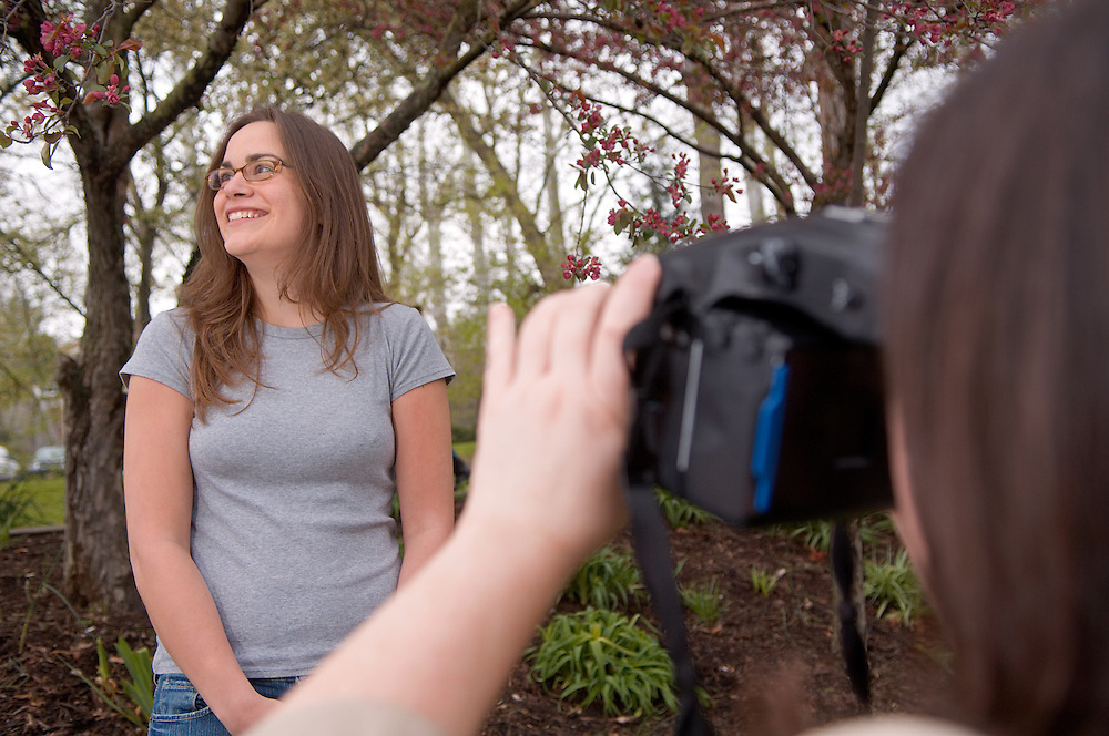 Spring Campus...Whitney Traylor(glasses) & Kaitlin Fencl shoot photos for Vico 321