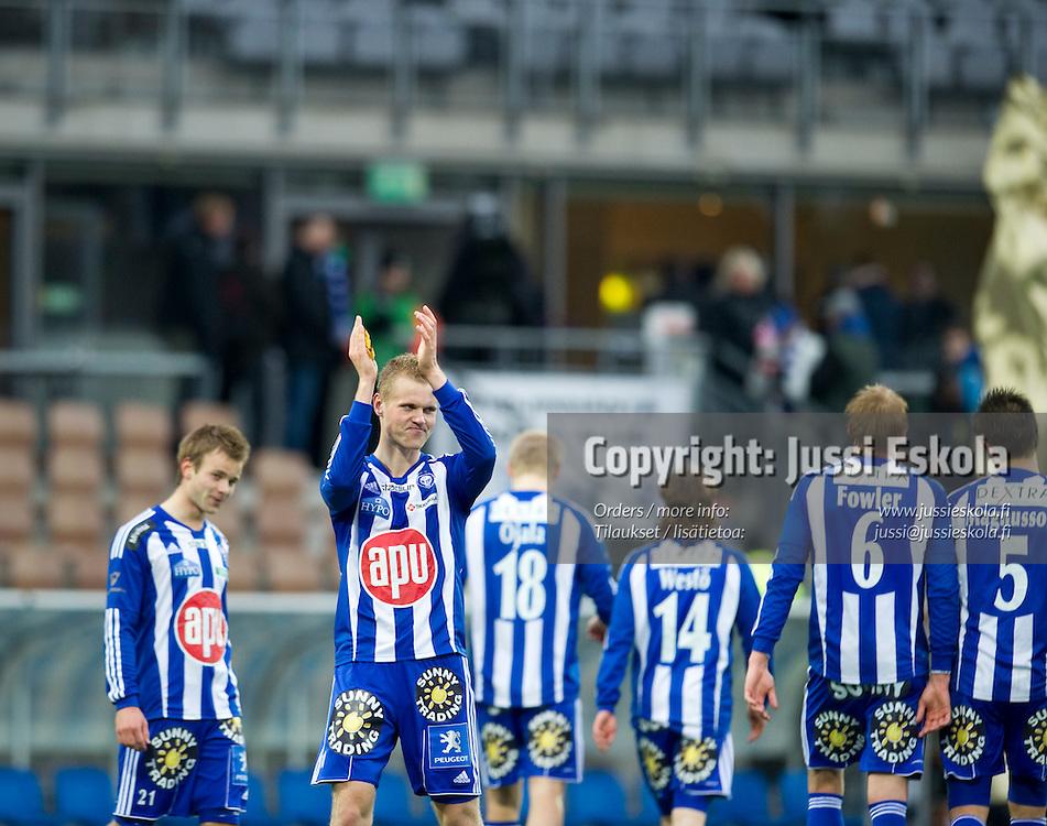 Juho Mäkelä. HJK - AC Oulu. Veikkausliiga. Helsinki 10.5.2010. Photo: Jussi Eskola