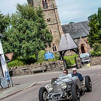 Igino Angelini and Federica Cecchi in their Riley TT Sprite on the Royal Automobile Club 1000 Mile Trial 2015