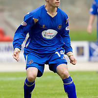 St Johnstone FC Season 2009-10<br /> Kevin Moon<br /> Picture by Graeme Hart.<br /> Copyright Perthshire Picture Agency<br /> Tel: 01738 623350  Mobile: 07990 594431