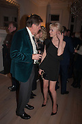 COUNTESS SOKOLOFF; JOHN MADEJSKI, Drinks party given by Basia and Richard Briggs,  Chelsea. London. SW3. 13 February 2014.