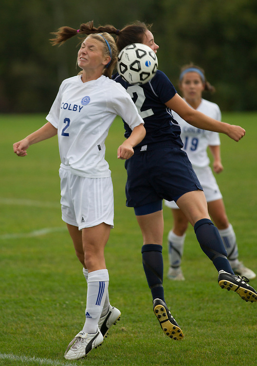 Janie O'Halloran, of Colby College, in an NCAA Division III college soccer game against Middlebury College at Colby College, Thursday Sept. 15, 2012 in Waterville, ME. (Dustin Satloff/Colby College Athletics)