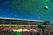 September 3-5, 2015 - Italian Grand Prix at Monza: Podium celebrations at Monza, Lewis Hamilton (GBR), Mercedes, Sebastian Vettel (GER), Ferrari, Felipe Massa (BRA), Williams Martini Racing