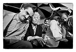 *En_Cechoslovakia, 1990, Prague  - K. Schwarzenberg with First Lady Olga Havel on the first concert of The Rolling Stones  in Czechoslovakia *Cz_Porada