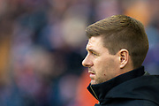 Steven Gerrard, manager of Rangers FC before the Ladbrokes Scottish Premiership match between Rangers FC and Heart of Midlothian FC at Ibrox Park, Glasgow, Scotland on 1 December 2019.