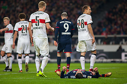 December 16, 2017 - Stuttgart, Germany - Bayerns James Rodriguez lies on the ground after a failed shot during the German first division Bundesliga football match between VfB Stuttgart and Bayern Munich on December 16, 2017 in Stuttgart, Germany. (Credit Image: © Bartek Langer/NurPhoto via ZUMA Press)