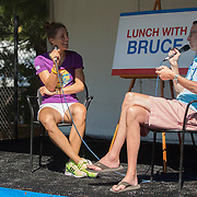 August 19, 2014, New Haven, CT:<br /> Andrea Petkovic participates in Lunch With Bruce on day five of the 2014 Connecticut Open at the Yale University Tennis Center in New Haven, Connecticut Tuesday, August 19, 2014.<br /> (Photo by Billie Weiss/Connecticut Open)