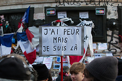 © Licensed to London News Pictures. 10/01/2016. France, Paris. Members of the public come together on Place de la Republique to remember the 149 people currently killed in terror attacks in Paris since the 2015 Charlie Hebdo events. Today January 10th 2016. Photo credit: Hugo Michiels/LNP