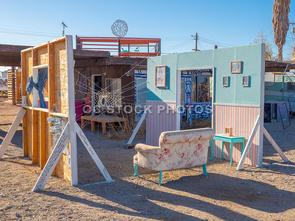 Outdoor Abandoned Art in Bombay Beach
