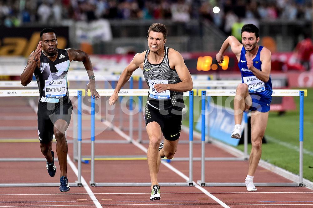 Andrew Pozzi (GBR) 110 hurdles men during the IAAF Diamond League Golden Gala Pietro Mennea at Stadio Olimpico, Rome, Italy on 2 June 2016. Photo by Giuseppe Maffia.