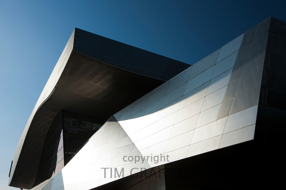 Modern architecture at the BMW Factory and Headquarters in Munich, Bavaria, Germany