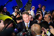 Rick Wagoner greets the press at the General Motors Press Conference at the 2009 NAIAS, North American International Auto Show, held in Detroit Michigan.