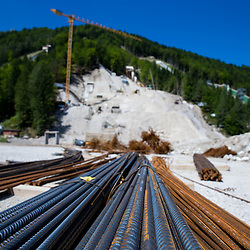 20130725: SLO, Nordic Ski - Reconstruction of ski jumping hills in Planica