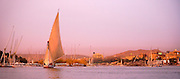 Felucca at twilight, Aswan, Egypt