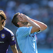 NEW YORK, NEW YORK - May 29:  David Villa #7 of New York City FC reacts after a missed chance during the New York City FC Vs Orlando City, MSL regular season football match at Yankee Stadium, The Bronx, May 29, 2016 in New York City. (Photo by Tim Clayton/Corbis via Getty Images)